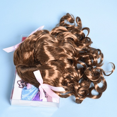 Copper Red Long Wavy Curly Synthetic Wigs for Girl_3