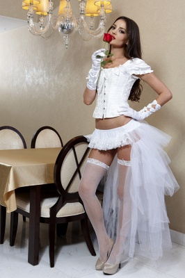 White High Low Petticoat_1