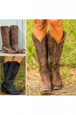 Stylish Knee High Women's Boots_5