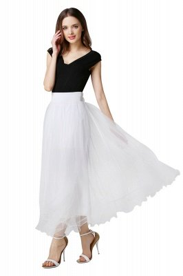 Bunny | White A-line Tulle Skirt