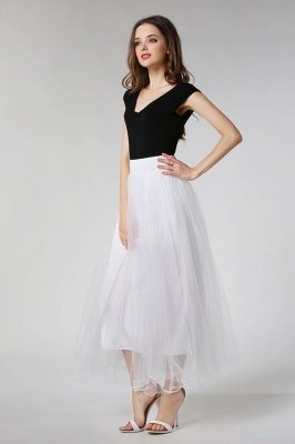 Bunny | White A-line Tulle Skirt_1
