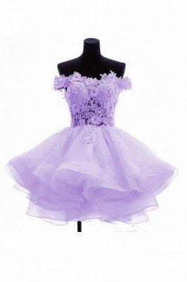 Short Flowers Off-the-Shoulder Ruffles Cute Homecoming Dress_3