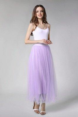Bunny | White A-line Tulle Skirt_35