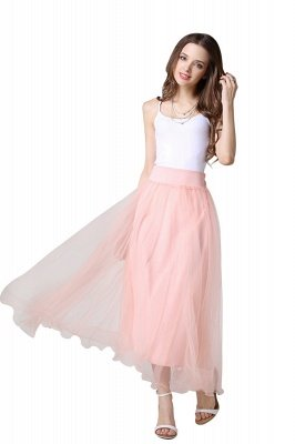 Bunny | White A-line Tulle Skirt_16