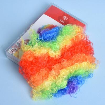 Rainbow Wavy Curly Clown Cosplay Wigs_4
