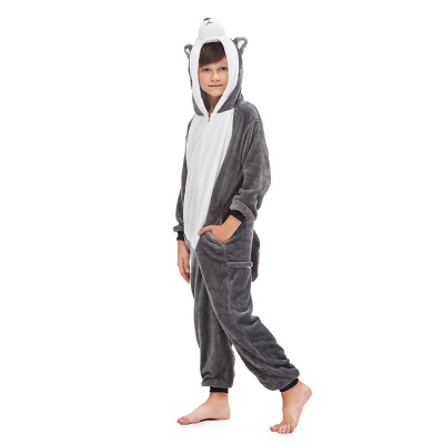Lovely Pajamas Sleepwear for Boys Huskie Onesie, Grey_1