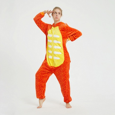 Adorable Adult Pyjamas for Women Triceratops Onesie, Orange_6