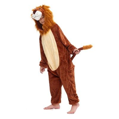 Cute Animal Sleepwear for Boys Lion Onesie, Brown_4