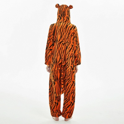 Lovely Adult Tiger Onesies Pajamas for Women_8