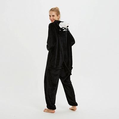 Cute Pyjamas for Women Huskie Onesies, Dark_8