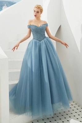 Off the Shoulder Sweetheart Jade A-line Long Prom Dresses | Elegant Evening Dresses Cheap_17
