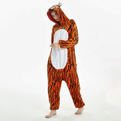Lovely Adult Tiger Onesies Pajamas for Women_9