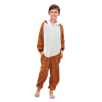 Lovely Pajamas Sleepwear for Boys Bear Onesies, Brown_2