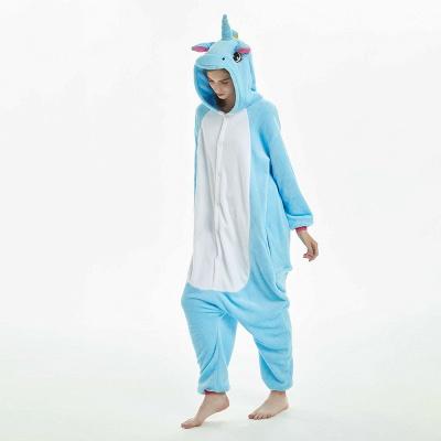 Downy Adult Sky Blue Unicorn Onesies Sleepwear for Girls_12