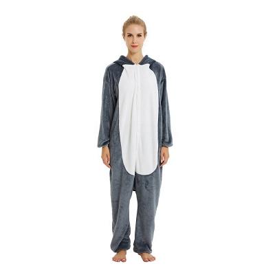 Lovely Pajamas Sleepwear for Women Huskie Onesie, Dark Grey_21