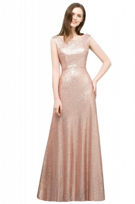 JOSELYN | A-line Floor Length Scoop Sleeveless Sequined Prom Dresses_1
