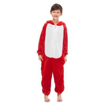 Cute Animal Sleepwear Bear Onesie, Red_6