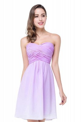 Cheap A-line Strapless Chiffon Bridesmaid Dress with Draped in Stock_1