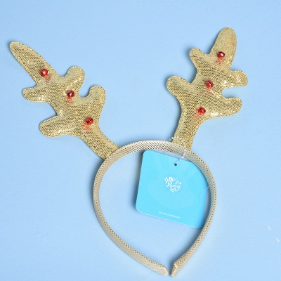 Christmas Decoration Gold Wapiti Deer Headhand_1