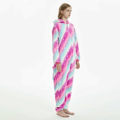 Downy Adult Coloful Onesies Pajamas for Women_2