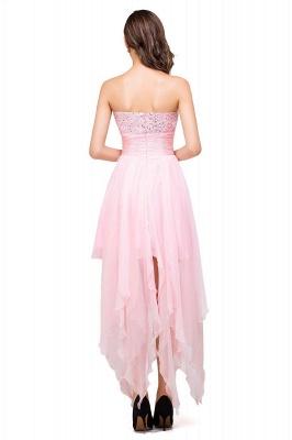 New Arrival A-Line Mini Crystal Sweetheart Ruffles  Homecoming Dress_6