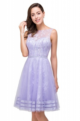 2019 Lavender Short Lace A-Line Sleeveless Mini Homecoming Dress_5