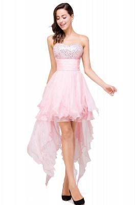 New Arrival A-Line Mini Crystal Sweetheart Ruffles  Homecoming Dress_5