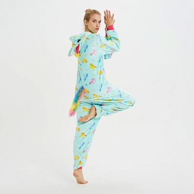 Cute Animal Pyjamas for Women Triceratops Onesie, Green_15