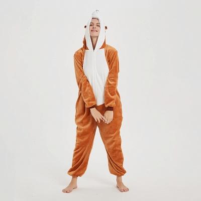 Cute Sleepwear for Women Brown Hoodie Onesies_14