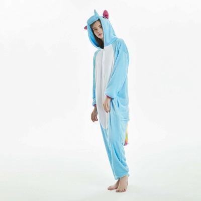 Downy Adult Sky Blue Unicorn Onesies Sleepwear for Girls_13
