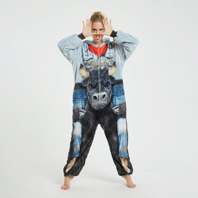 Cute Animal Pyjamas Hoodie Onesies for Women_6