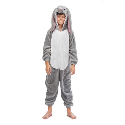 Lovely Animal Sleepwear for Boys MashiMaro Onesie, Grey_4