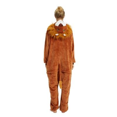 Cute Animal Pyjamas for Women Lion Onesies, Brown_20