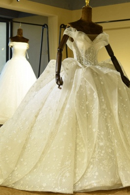 Gorgeous Lace-up Tulle Ball Gown Wedding Dress | Haute Couture Bridal Gowns Series_3