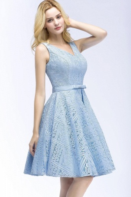 Lovely A-line Lace Knee-Length Homecoming Dress On Sale_6