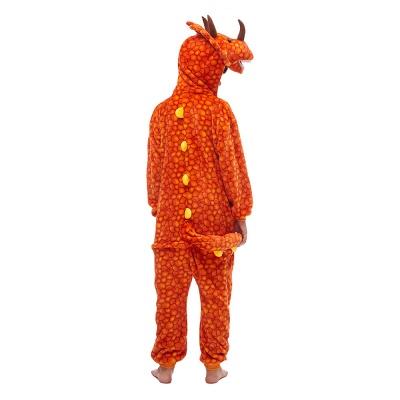 Lovely Animal Sleepwear Unicorn Onesies, Orange_7
