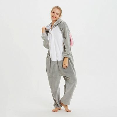 Adorable Adult Pyjamas for Women Long Ears MashiMaro Onesie, Grey_6