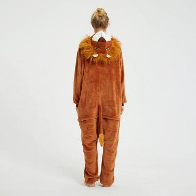 Cute Animal Pyjamas for Women Lion Onesies, Brown_2