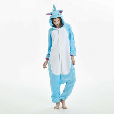 Downy Adult Sky Blue Unicorn Onesies Sleepwear for Girls_1