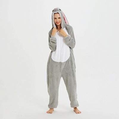 Adorable Adult Pyjamas for Women Long Ears MashiMaro Onesie, Grey_16