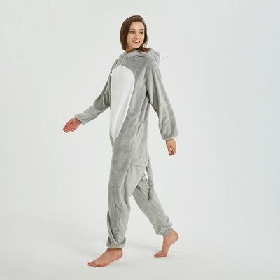 Cute Animal Pyjamas for Women Mouse Onesies, Grey_5