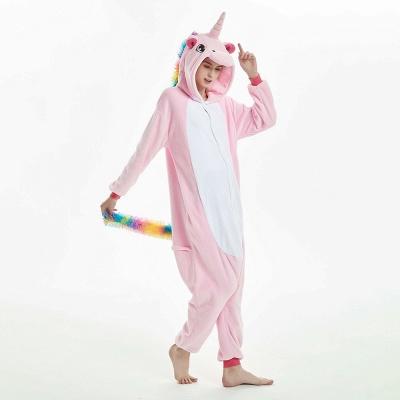 Cute Adult Pink Unicorn Onesies Sleepwear for Girls_11