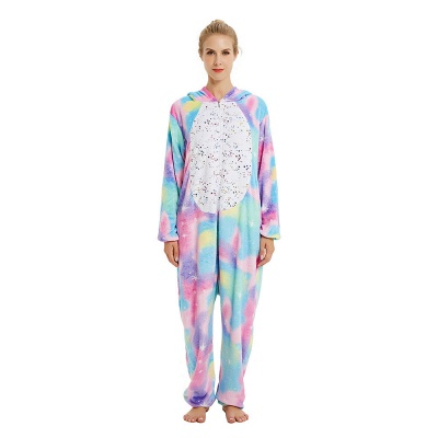 Cute Animal Pyjamas for Women Rainbow Hoodie Onesies_21