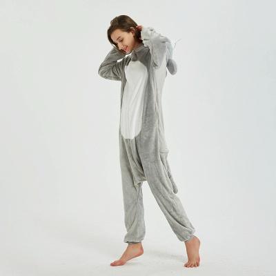 Cute Animal Pyjamas for Women Mouse Onesies, Grey_7