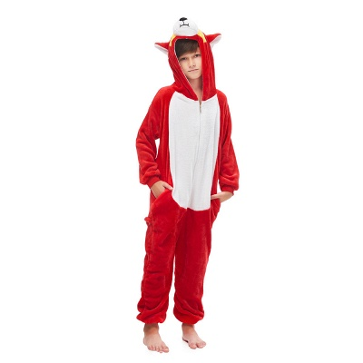 Cute Animal Sleepwear Bear Onesie, Red_4