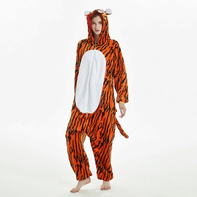 Lovely Adult Tiger Onesies Pajamas for Women_15