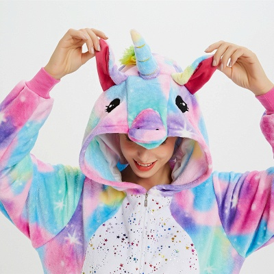 Cute Animal Pyjamas for Women Rainbow Hoodie Onesies_16