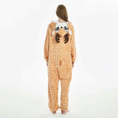 Cute Adult Deer Onesies Pajamas for Women_11