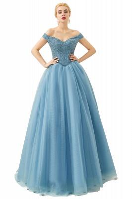 Off the Shoulder Sweetheart Jade A-line Long Prom Dresses | Elegant Evening Dresses_5