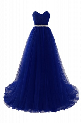 Cheap modest sweetheart sleeveless beading a-line prom dress in Stock_4